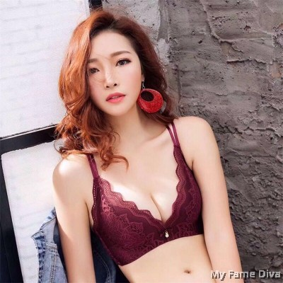 Lace Maple MultiStraps Bra set - RED WINE