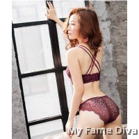Lace Maple MultiStraps Bra set - RED WINE (Wireless)