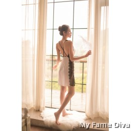 The Satin Collection : Alluring Eyelash Lace Nightwear
