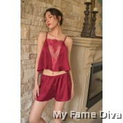 The Satin Collection : Chantilly-V Pajamas set