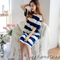 PJ Collections : Oversize Stripey PJ Dress