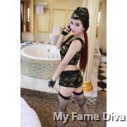 Sexy Soldier Crop Top & Hot Pants Set