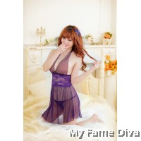 Purple-licious Halter neck Babydoll