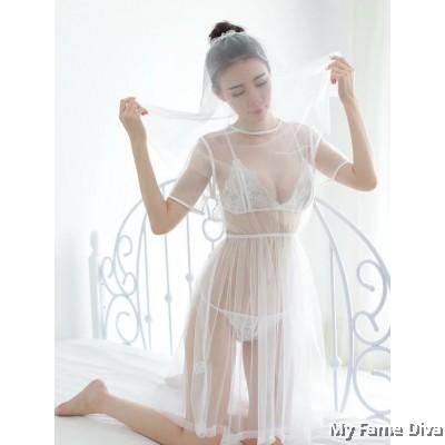Sheer n Sexy : Simply Sweetheart Babydoll Bridal Lingerie