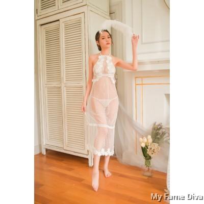 Freya & Romance Embroidered Long Dress