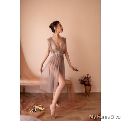 Hera Goddess Vintage Long Dress
