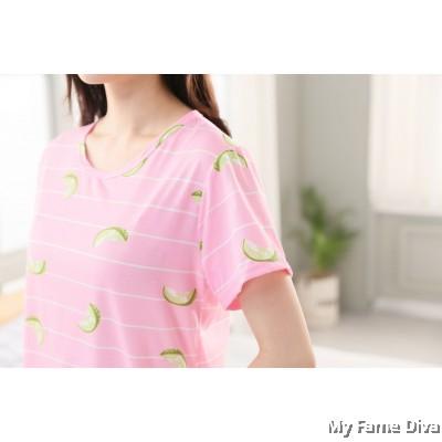 PJ Collections : Sweetie Pastel Printed-Tee PJ
