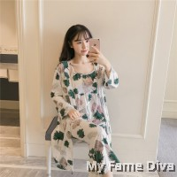 PJ Collections : Sweetie Olivia in Print Long PJ 3pcs Set