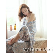 PJ Collections : Sweetie Daisy in Print Long PJ 3pcs Set
