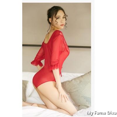 Sheer n Sexy : Dreamy Jolie Long Sleeve Sweetie Teddy