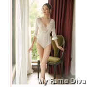Sheer n Sexy : Dreamy Jolie Long Sleeve Sweetie Teddy
