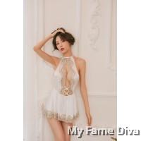 The Satin Collection : MIRA Plunge Nightwear