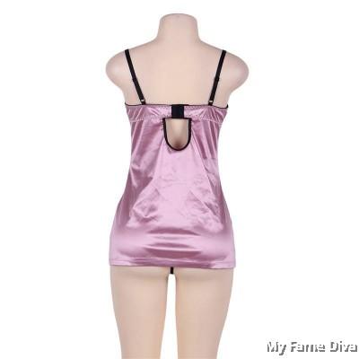 PLUS SIZE : Fuschia Bustier Corset Dress
