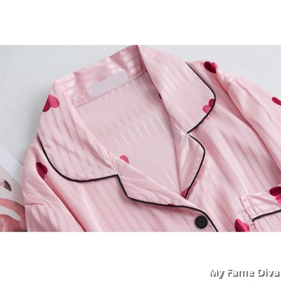 The Satin Pajamas Collection : Sweetheart Buttons-Up PJ Dress