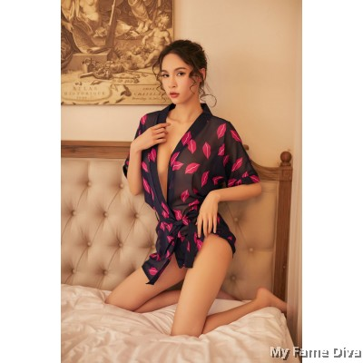 Love Kisses Sheer Robe