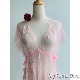 Sheer n Sexy : D'Fleur Sweetie Babydoll Long Dress