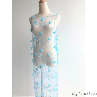 Spring of Love : D'Fleur Long Dress in Mint