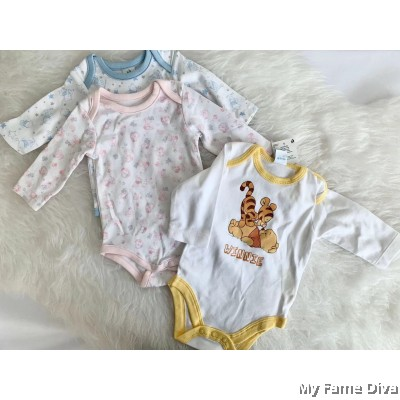 3pcs New Born Long Sleeve Baby Romper by CutiesDiva