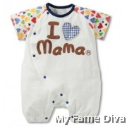 I Love Mama Colorful (Short Sleeve) Babysuit by CutiesDiva