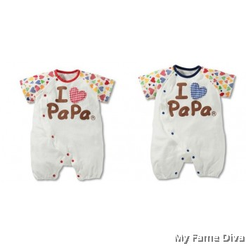 I Love Papa Colorful (Short Sleeve) Babysuit by CutiesDiva