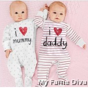 I Love Daddy n Mummy (Long Sleeve) Romper by CutiesDiva