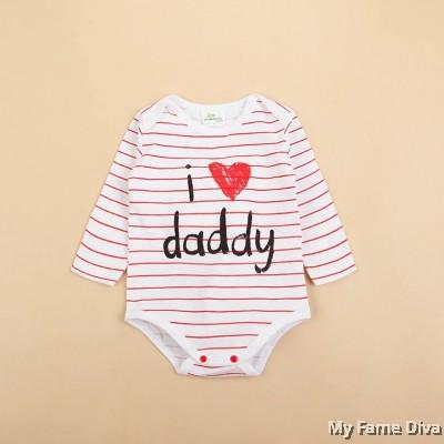 I Love Daddy n Mummy (Long Sleeve) Babysuit by CutiesDiva