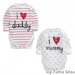 I Love Daddy n Mummy (Long Sleeve) Babysuit by CutiesDiva