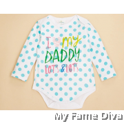 I Love Daddy Lots Lots (Long Sleeve) Babysuit by CutiesDiva