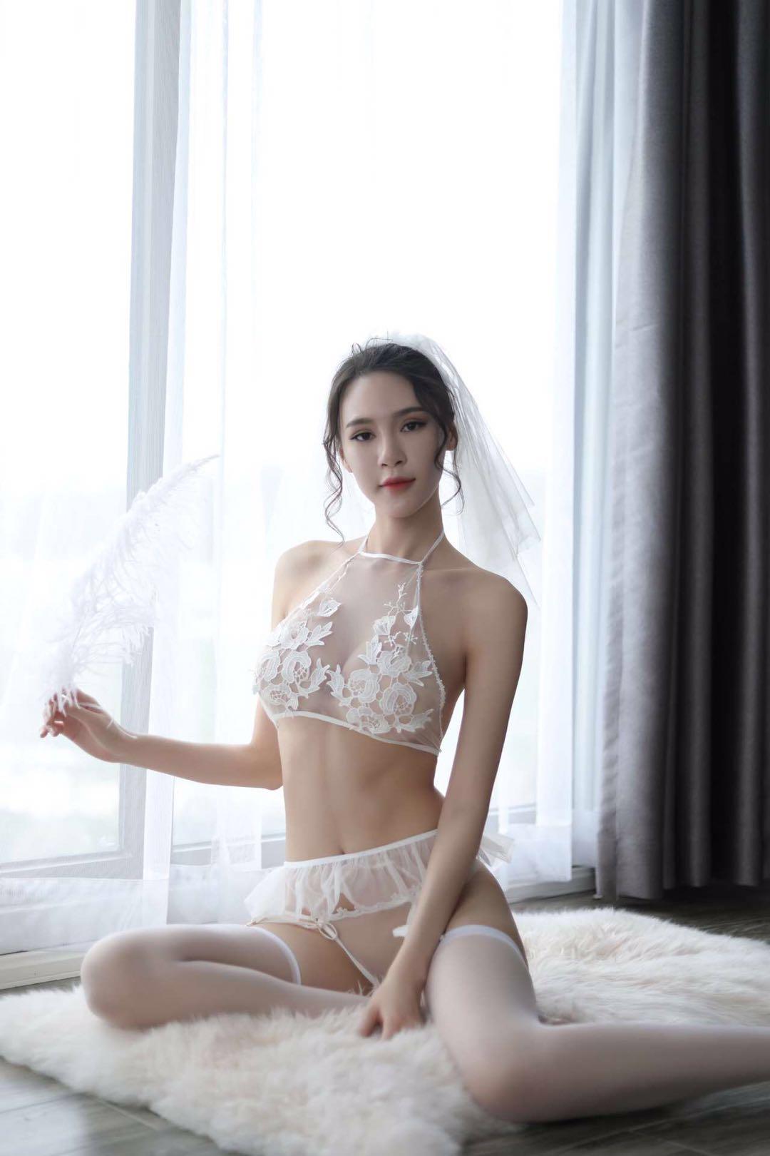 Sheer n Sexy : Dreamy Angels Bridal Garter Set Lingerie