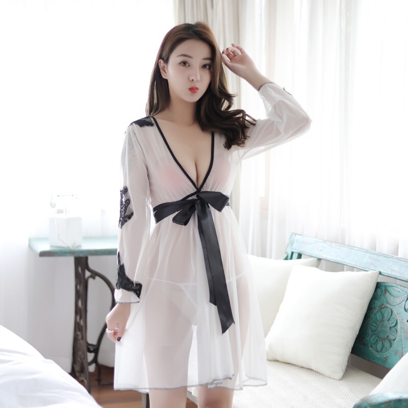 Sheer n Sexy : J'ADORE Long Sleeve Nighty