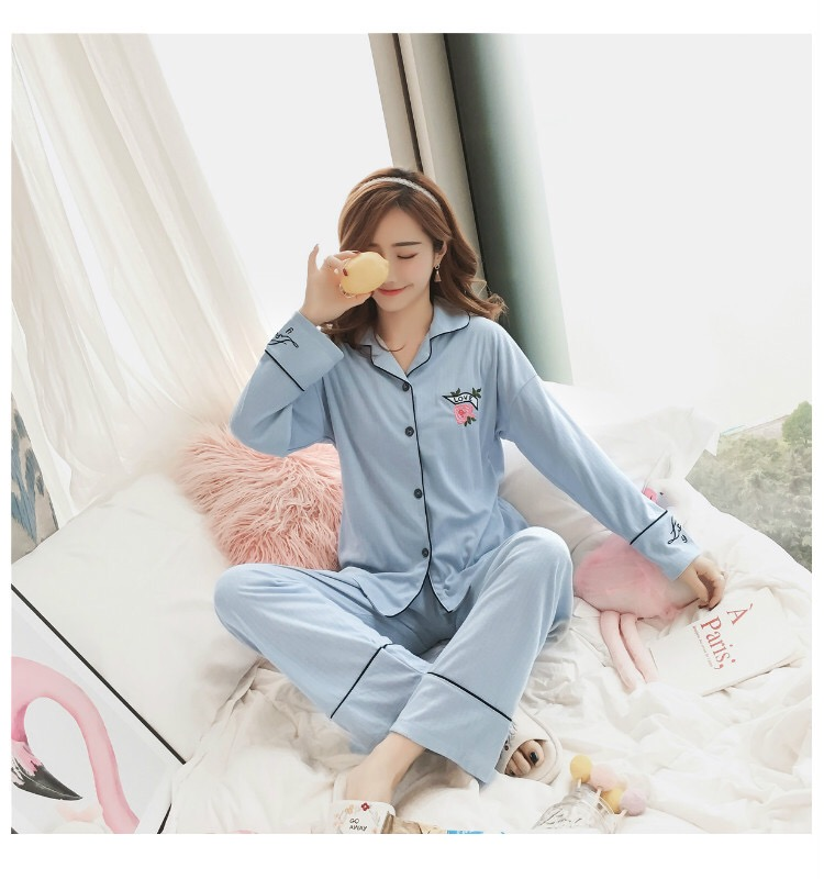 PJ Collections : LOVE More Long Pajamas Set